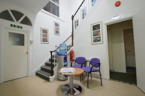 Stair Case and Waiting Area
