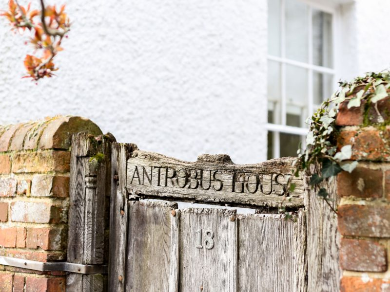 Grade II Listed Gate at Antrobus House in Central Petersfield