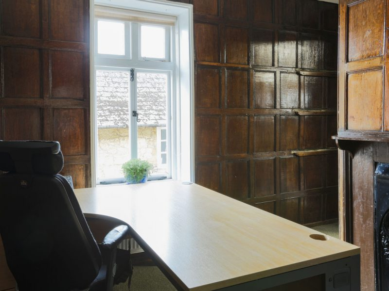 Rooms 8 & 9 at Antrobus House Original Wooden Panelling
